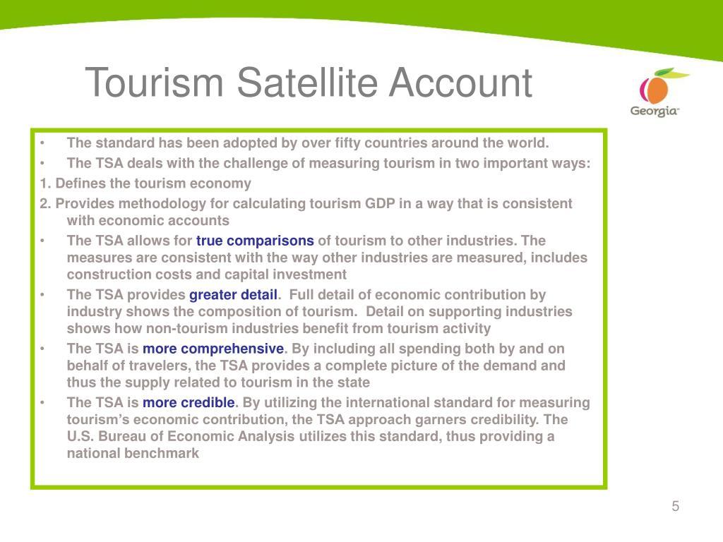 Tourism Satellite Account