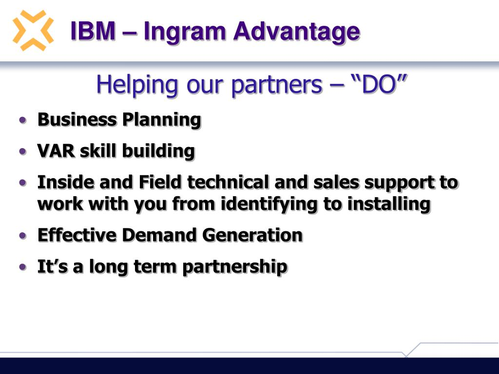 IBM – Ingram Advantage