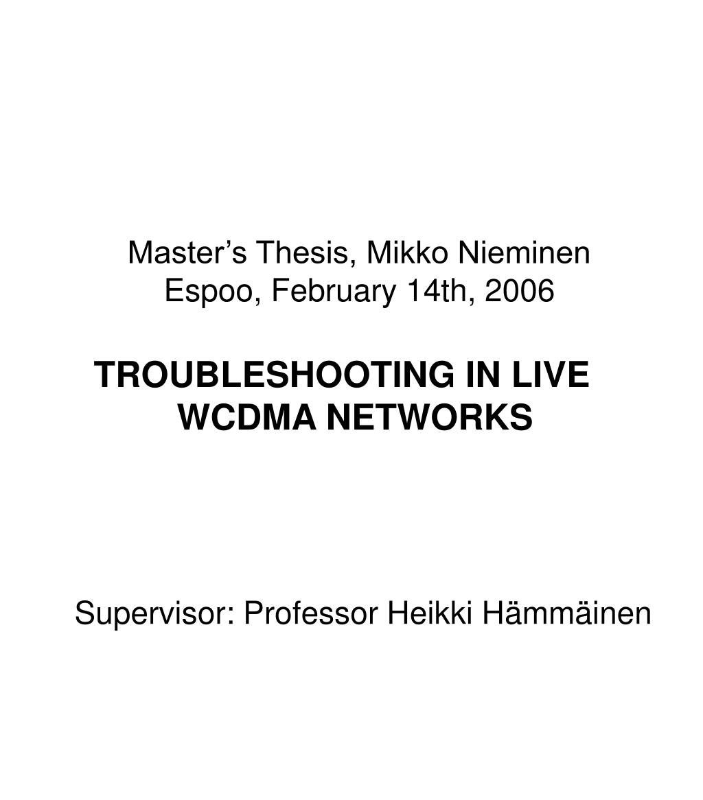 Master's Thesis, Mikko Nieminen