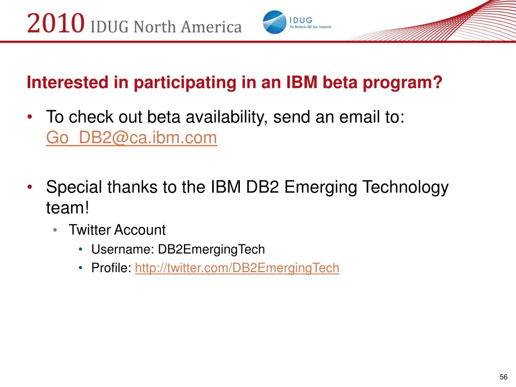 Interested in participating in an IBM beta program?