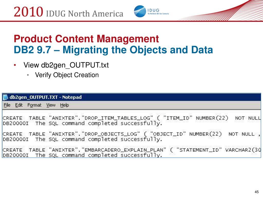 Product Content Management