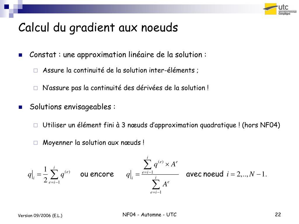 Ppt cours 3 b m thode des l ments finis 1d powerpoint presentation id 239776 - Calcul metre lineaire ...
