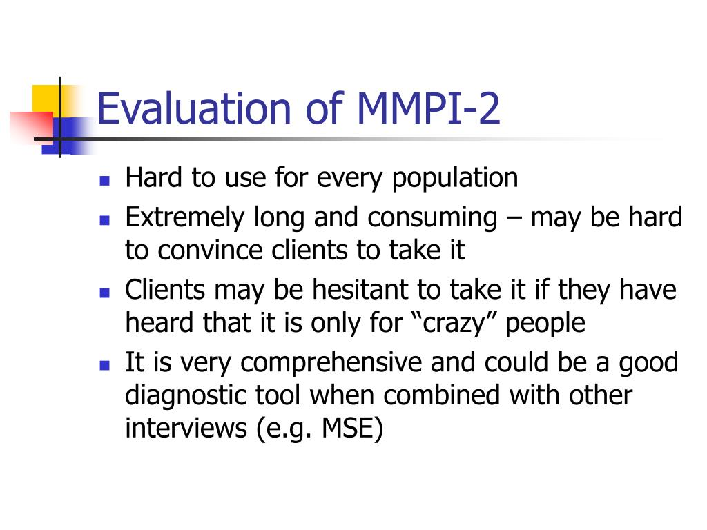 Evaluation of MMPI-2