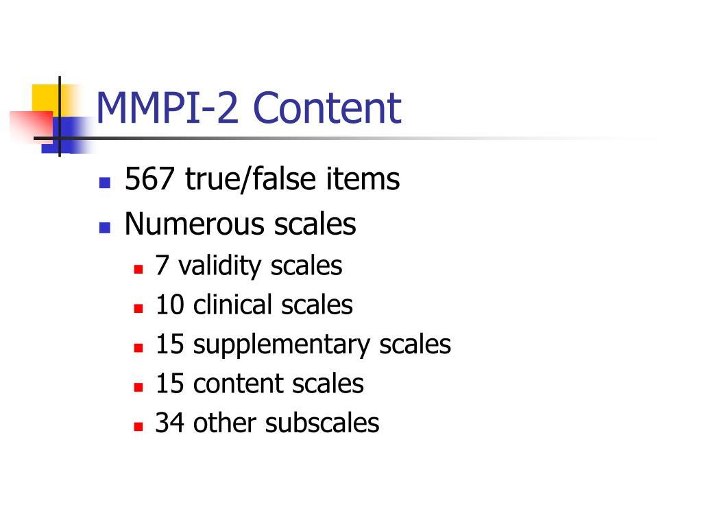 MMPI-2 Content