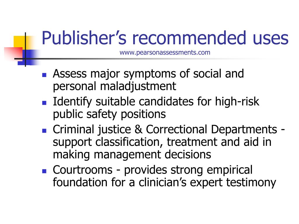 Publisher's recommended uses