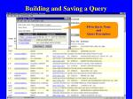 building and saving a query62