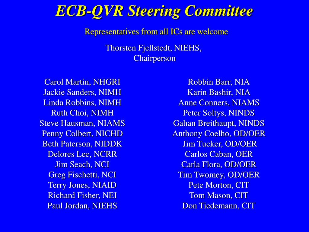 ECB-QVR Steering Committee