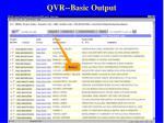 qvr basic output50
