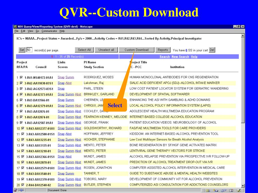 QVR--Custom Download