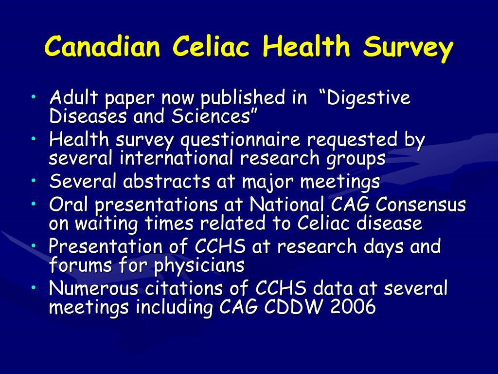 Canadian Celiac Health Survey