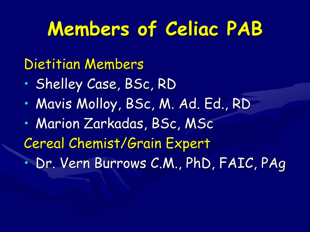 Members of Celiac PAB