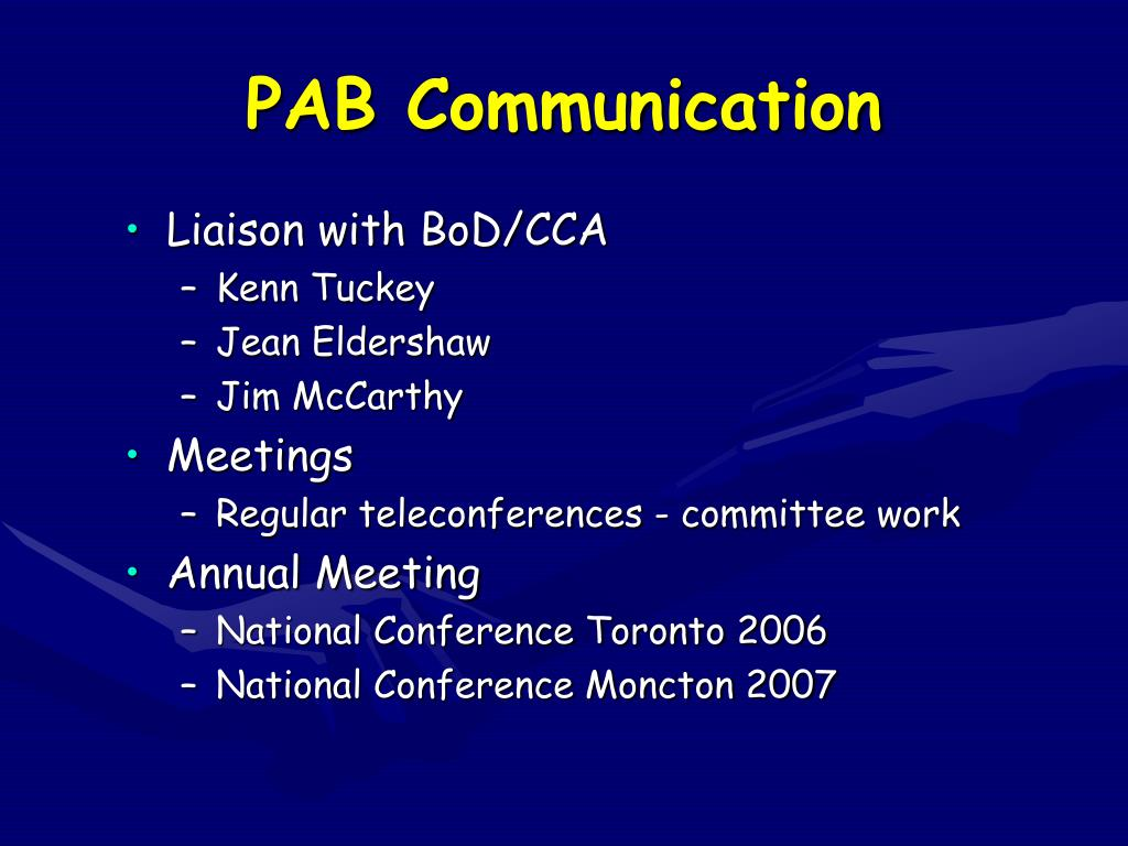 PAB Communication