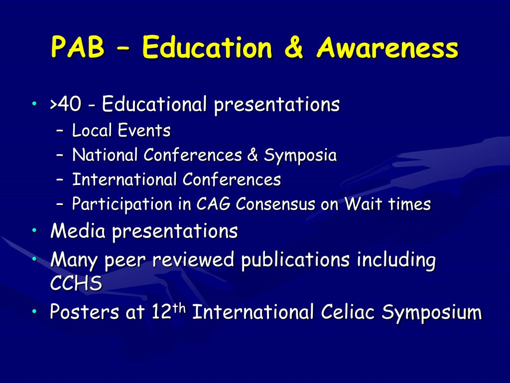 PAB – Education & Awareness