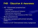 pab education awareness