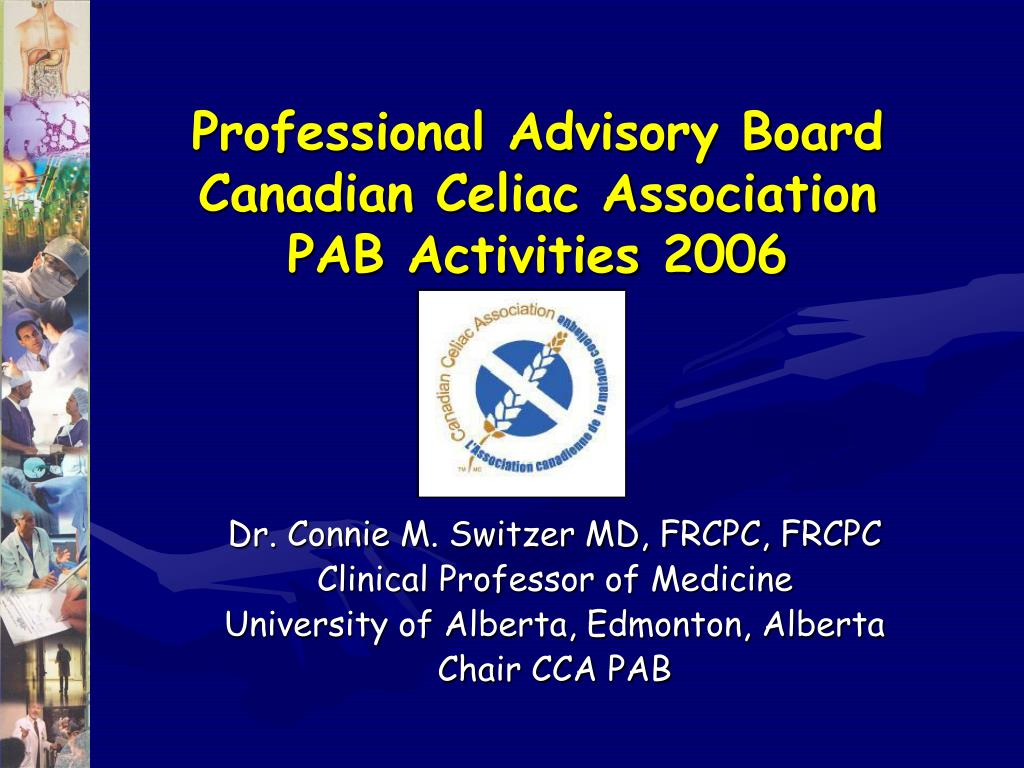 professional advisory board canadian celiac association pab activities 2006