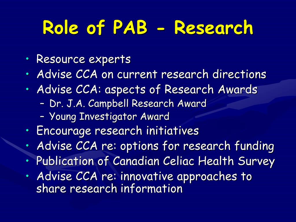 Role of PAB - Research