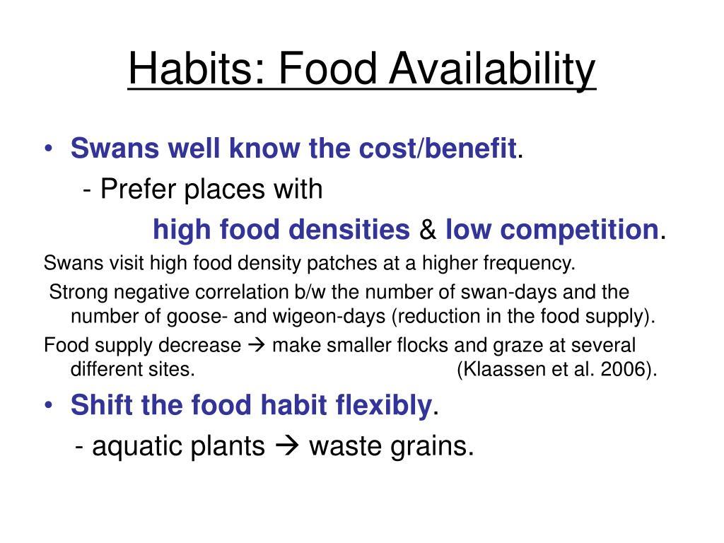 Habits: Food Availability
