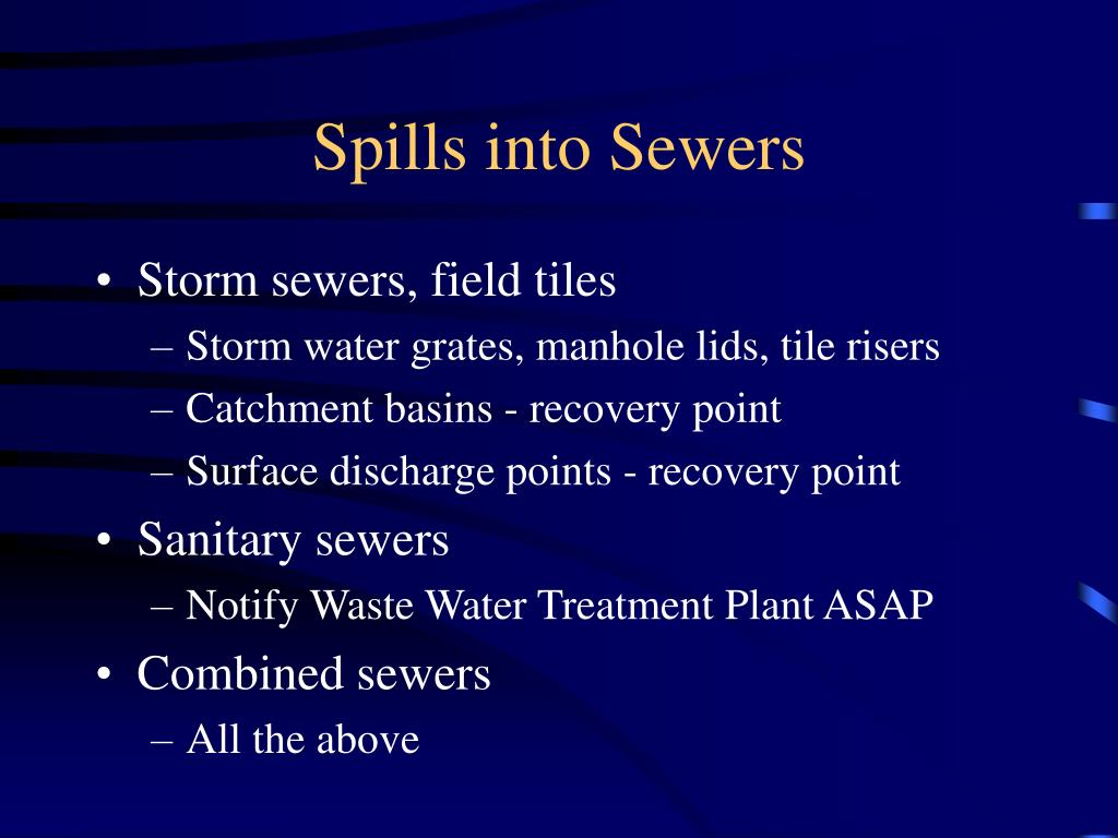 Spills into Sewers