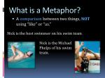 what is a metaphor