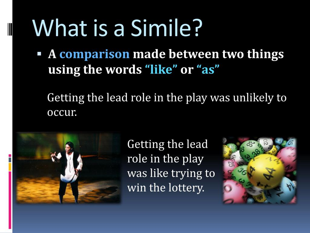What is a Simile?