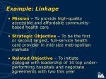 example linkage
