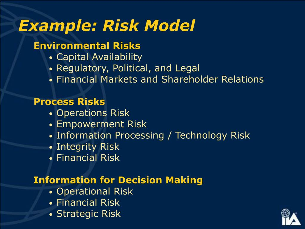 Example: Risk Model