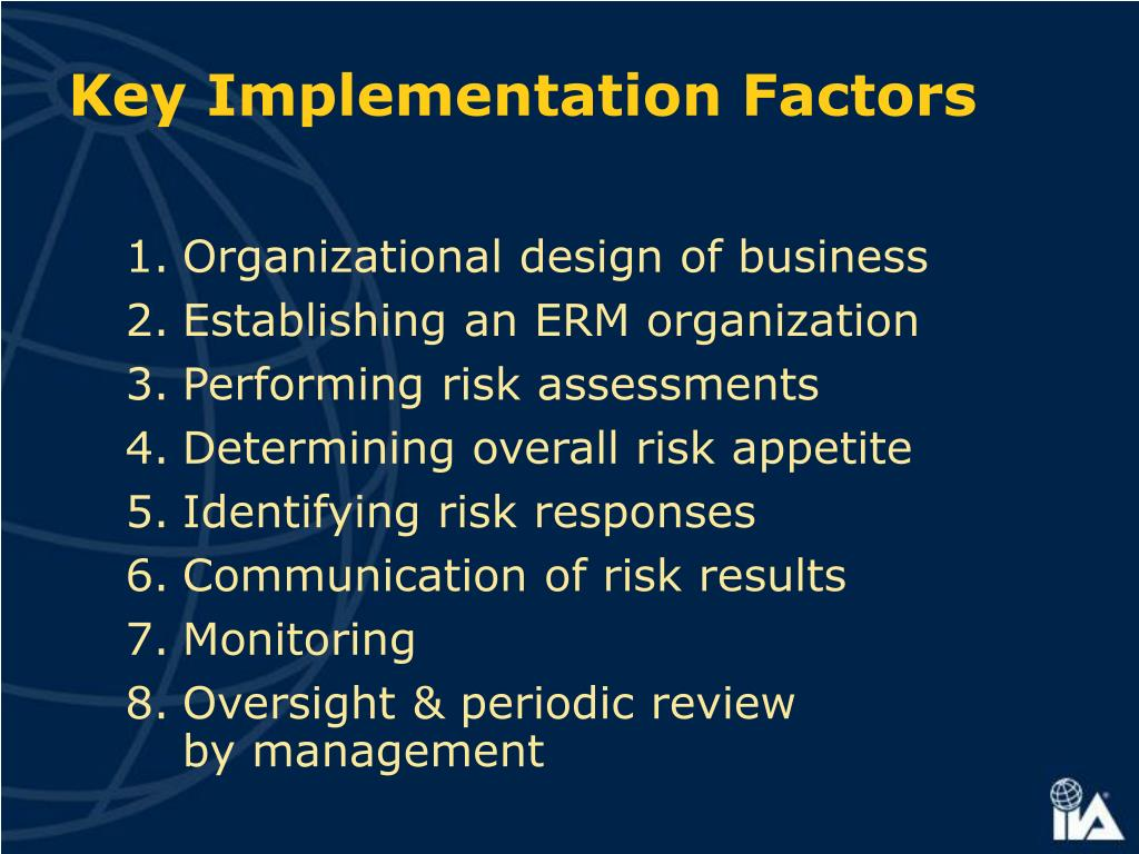 Key Implementation Factors