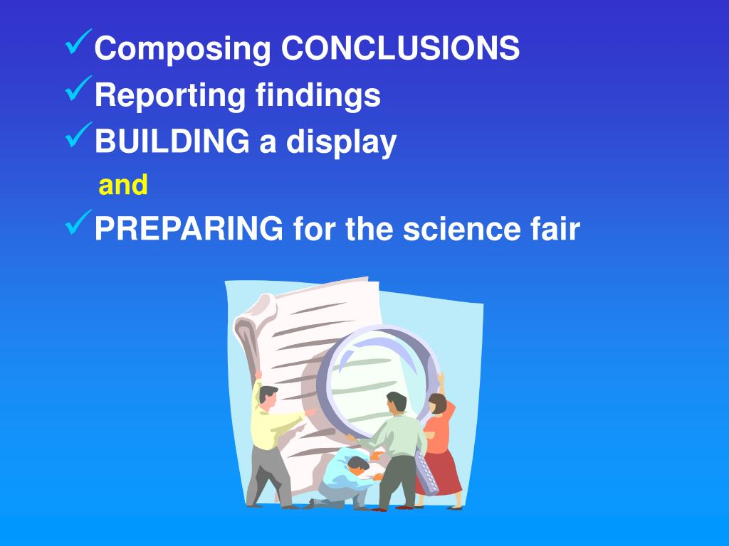 Composing CONCLUSIONS