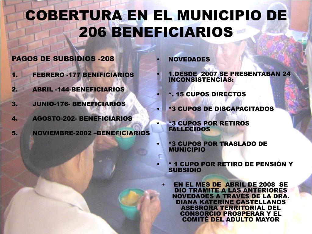 PAGOS DE SUBSIDIOS -208