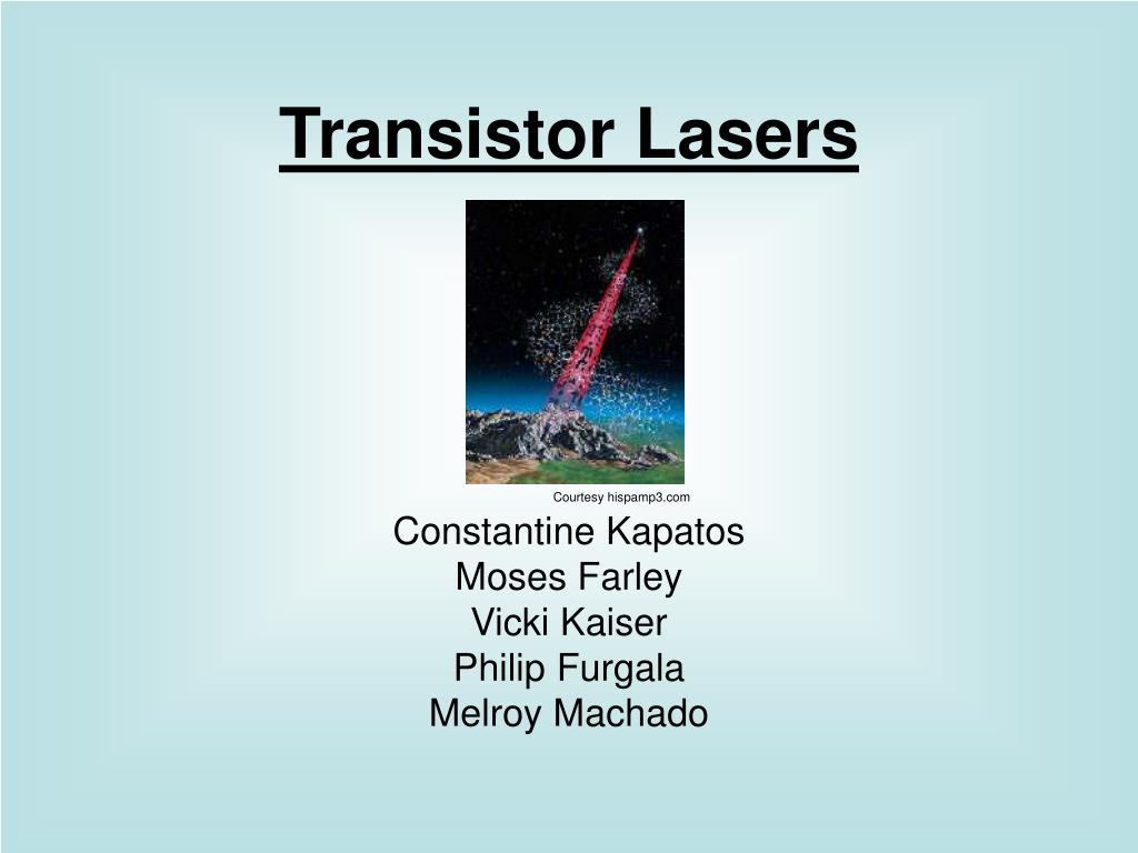 Transistor Lasers