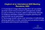 cleghorn et al international aids meeting barcelona 2002