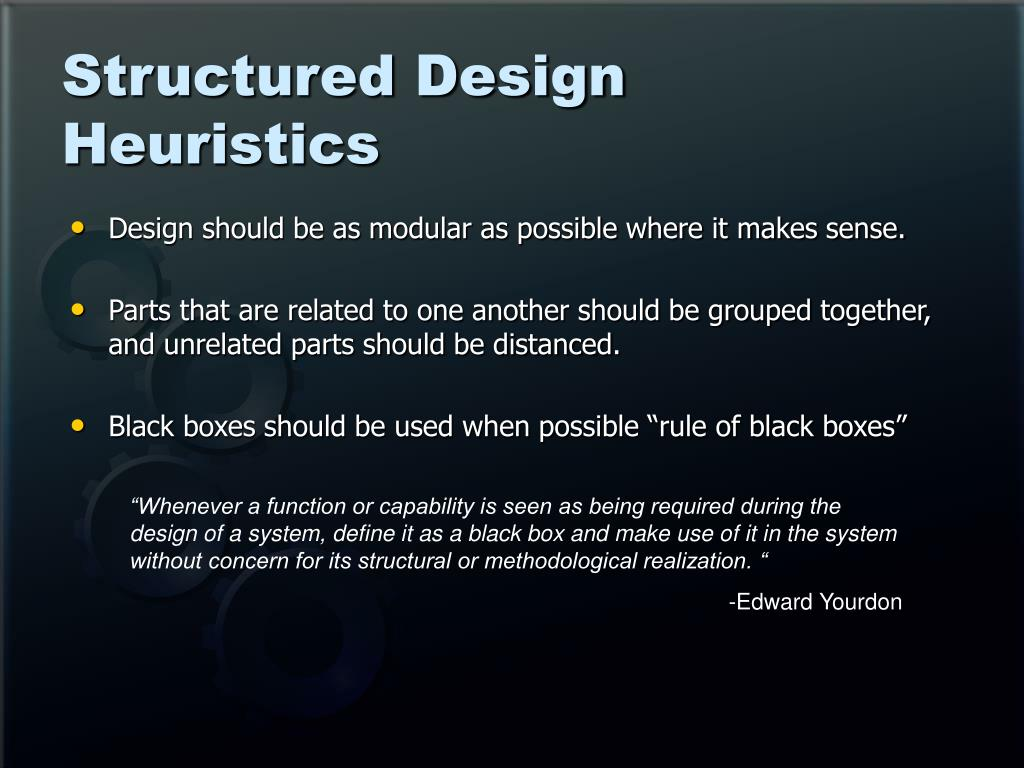 Structured Design Heuristics