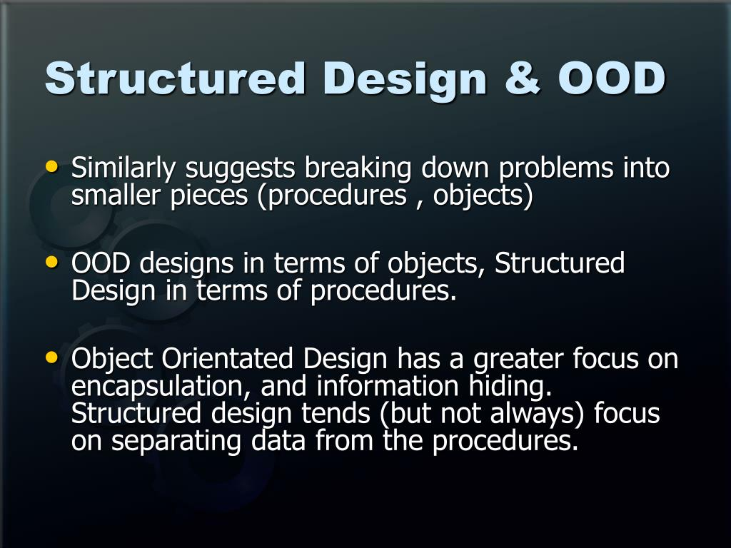 Structured Design & OOD