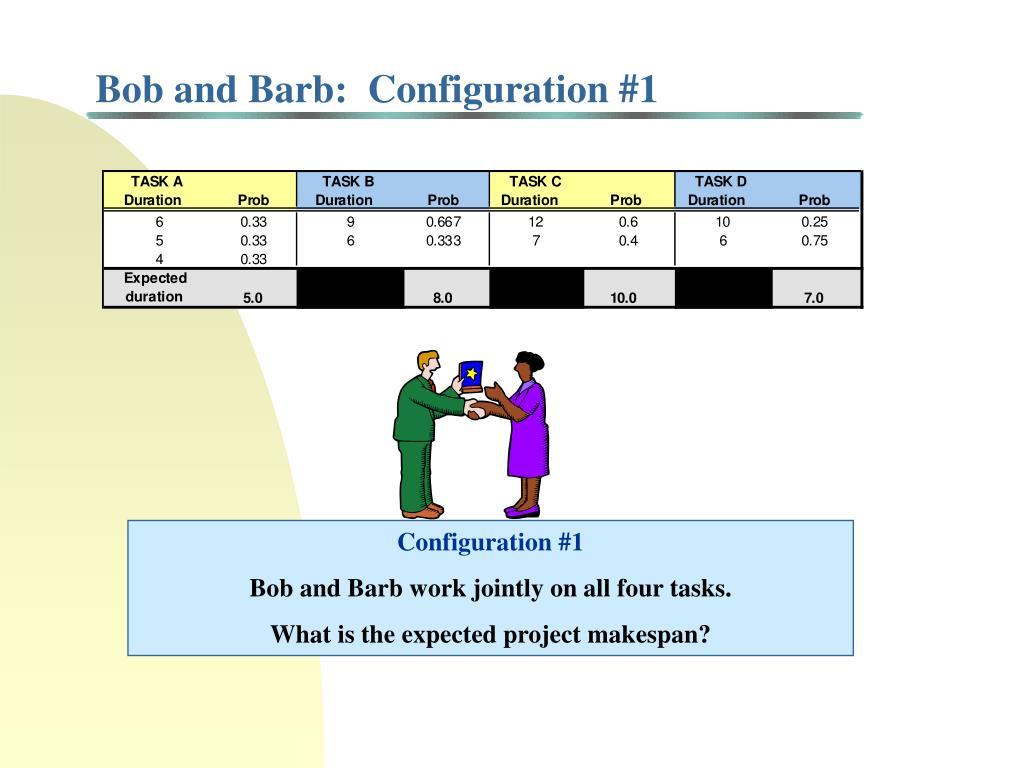 Bob and Barb:  Configuration #1