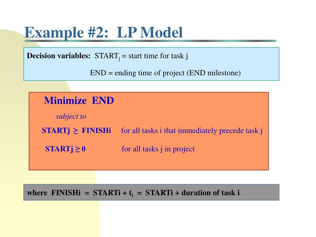 Example #2:  LP Model