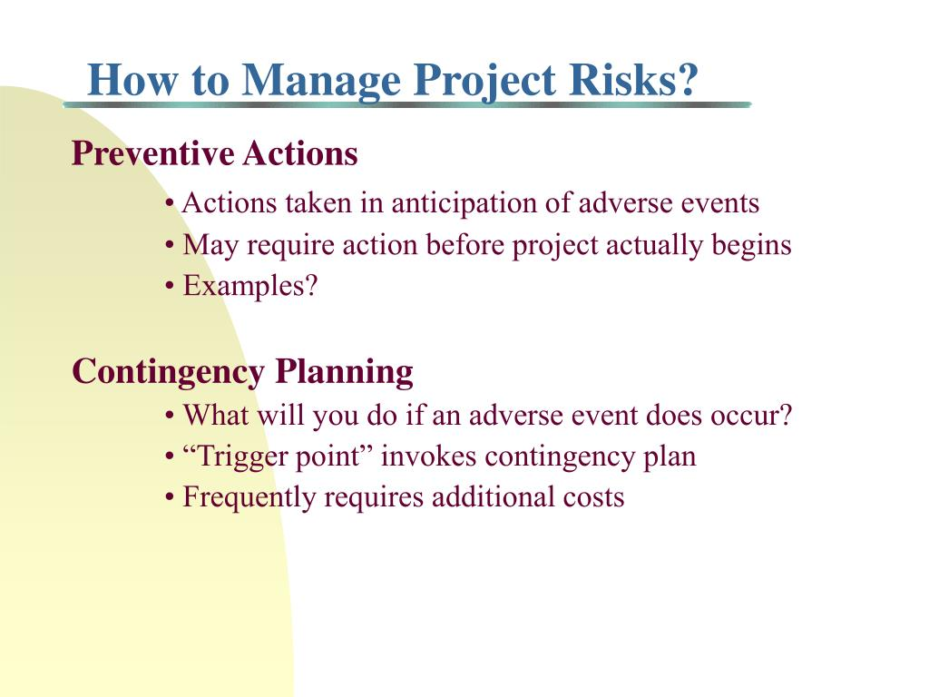 How to Manage Project Risks?