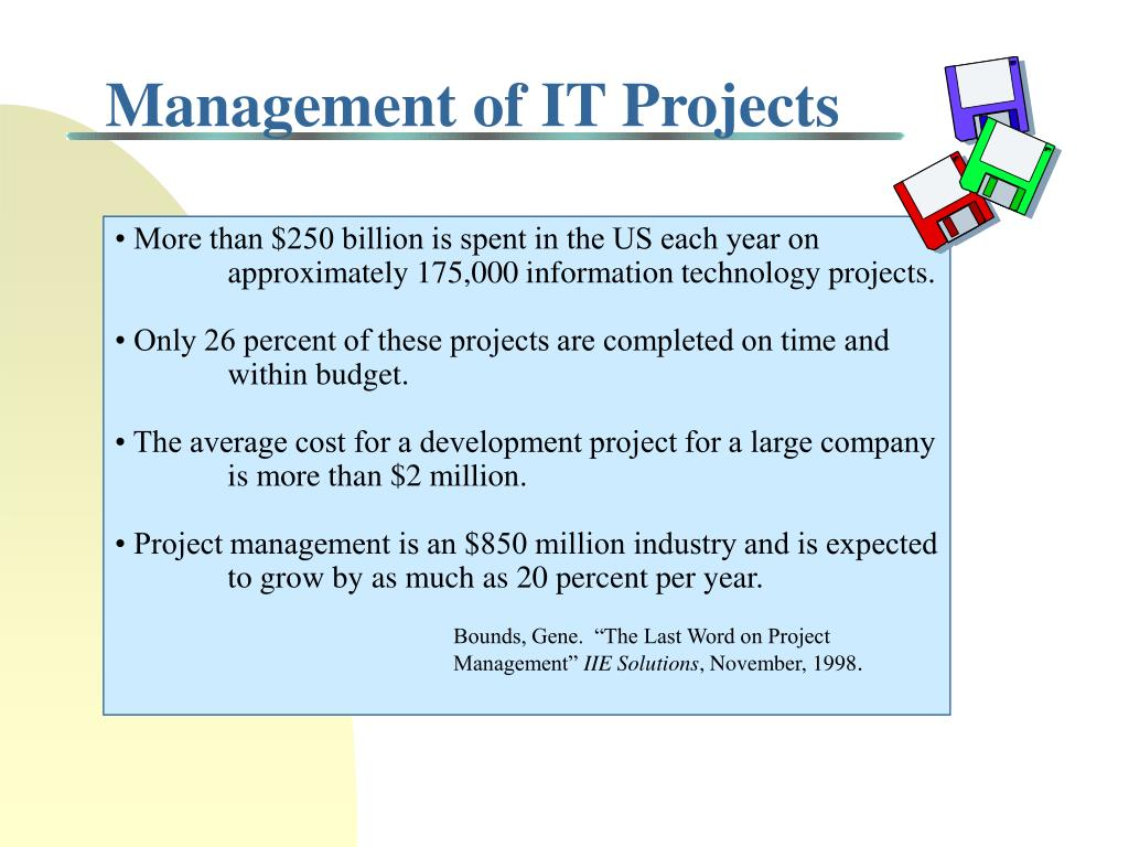 Management of IT Projects