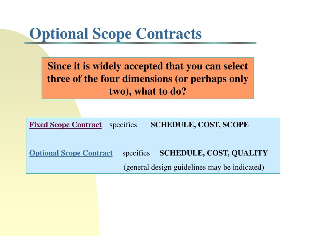 Optional Scope Contracts