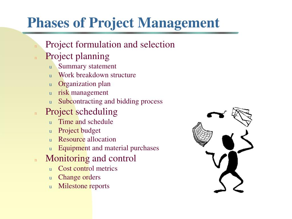 Project formulation and selection