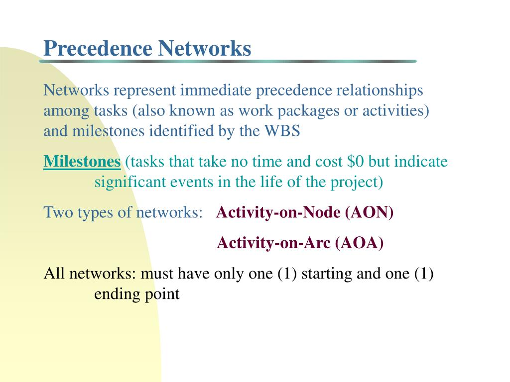 Precedence Networks