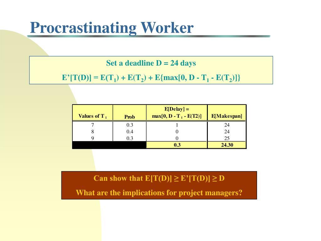 Procrastinating Worker