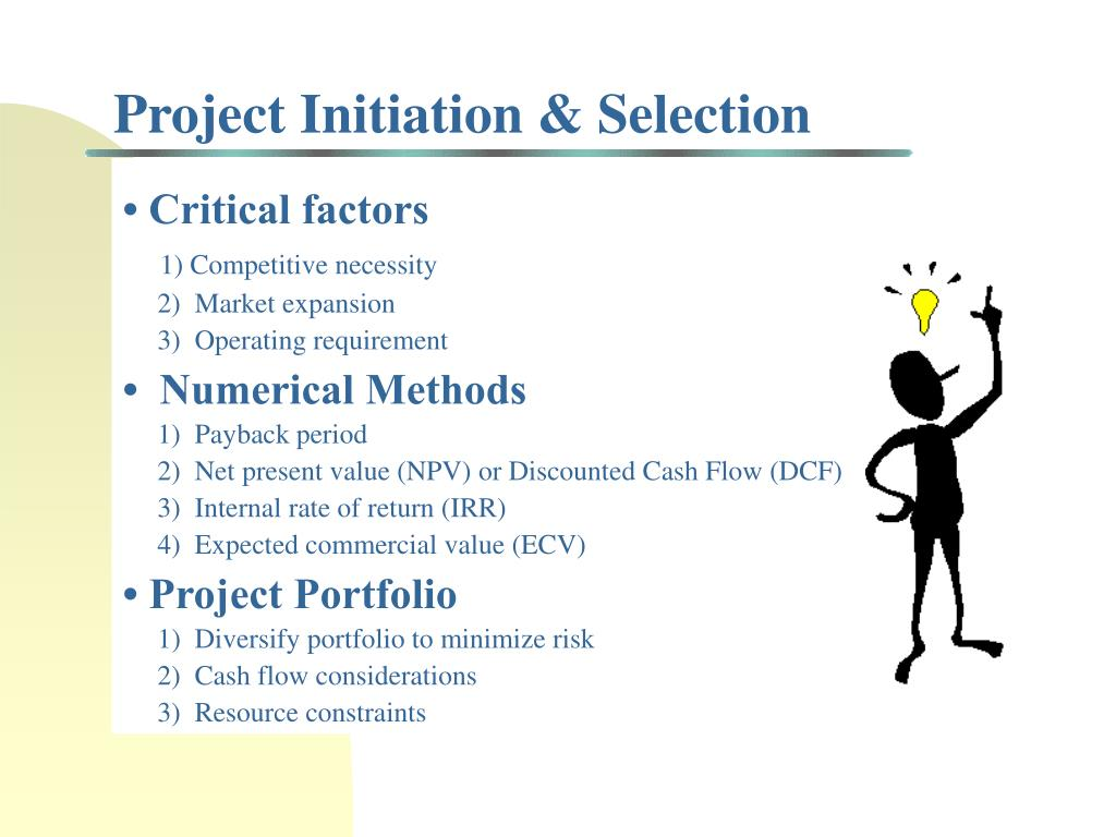 Project Initiation & Selection