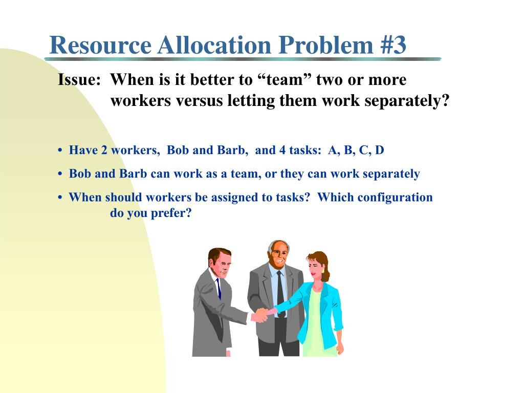 Resource Allocation Problem #3
