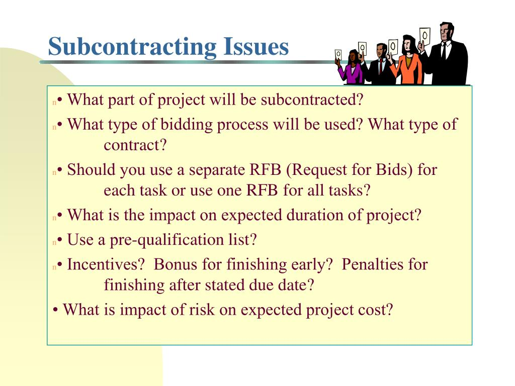 Subcontracting Issues
