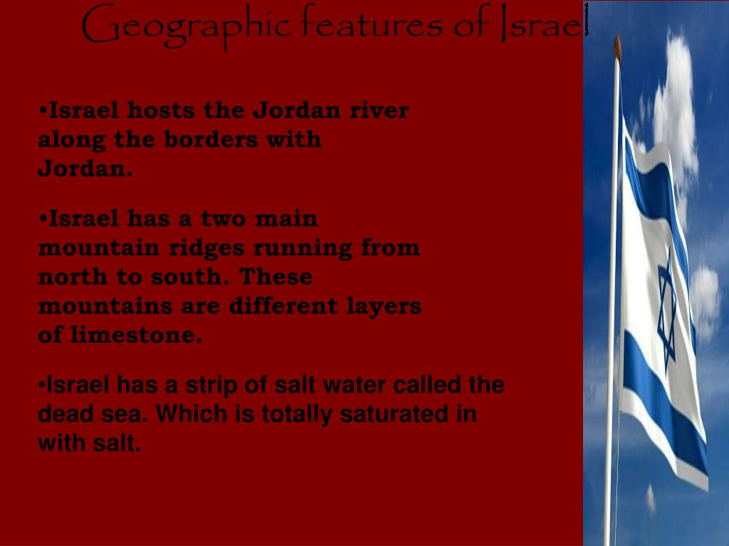 Geographic features of Israel