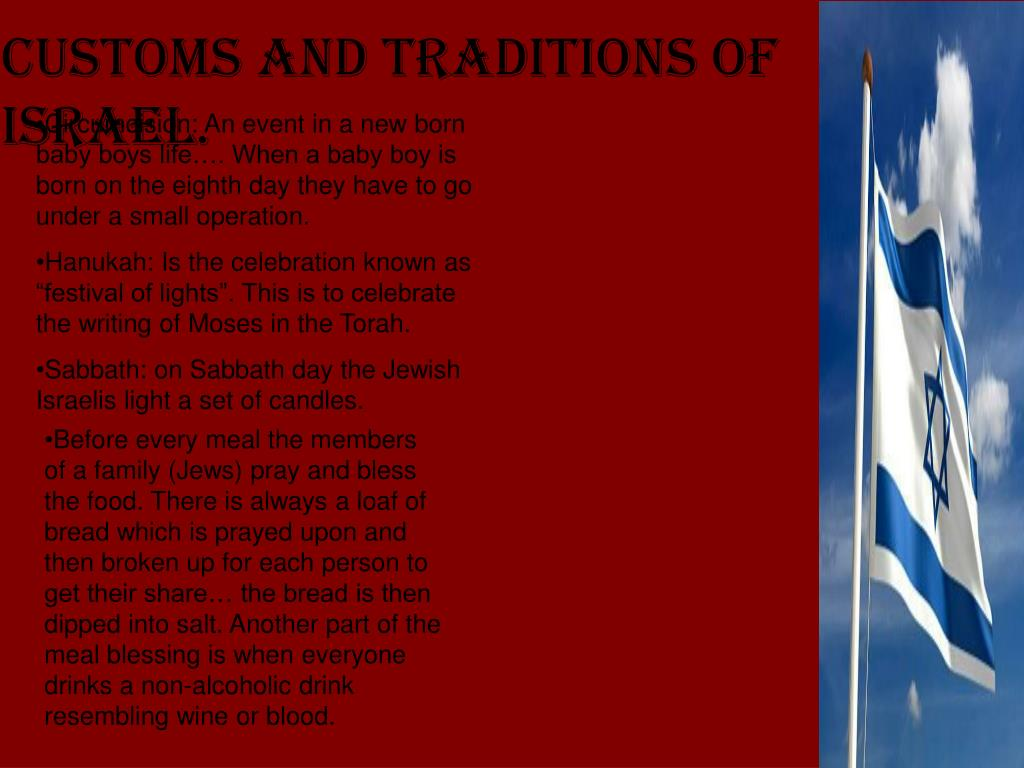 Customs and Traditions of Israel.