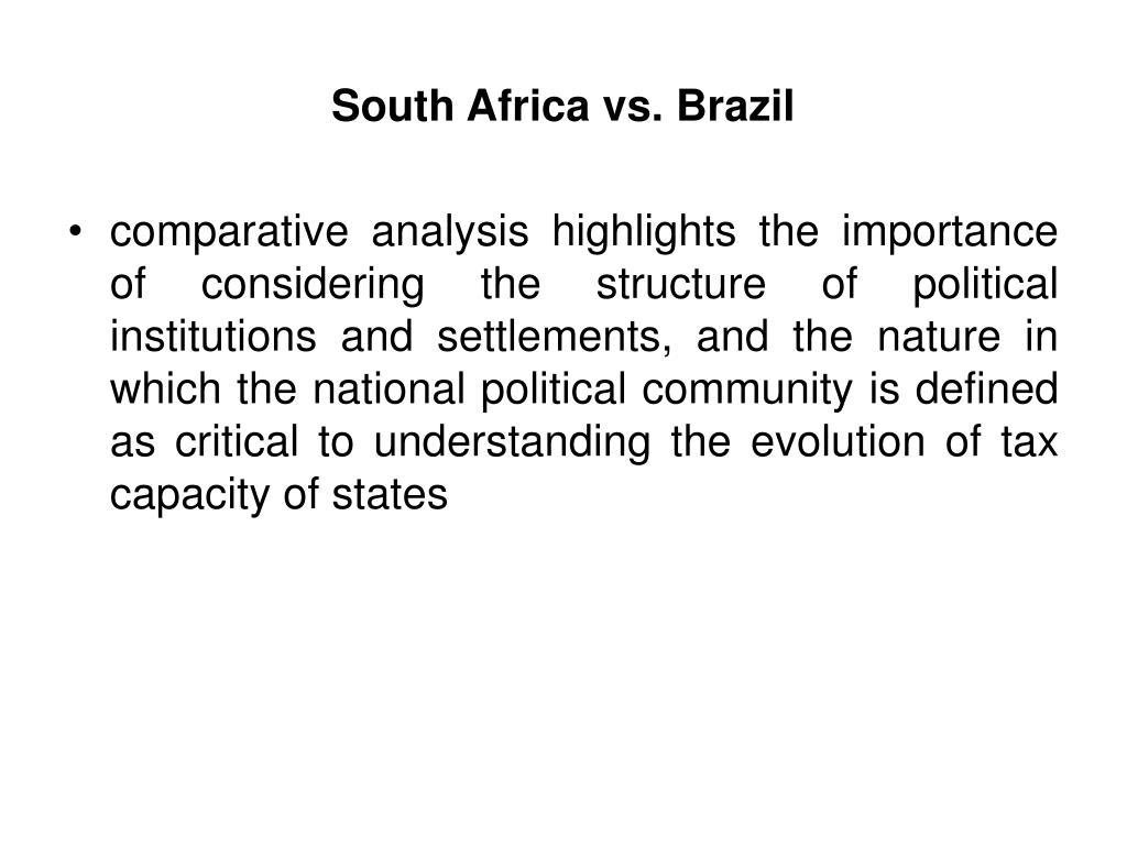 South Africa vs. Brazil