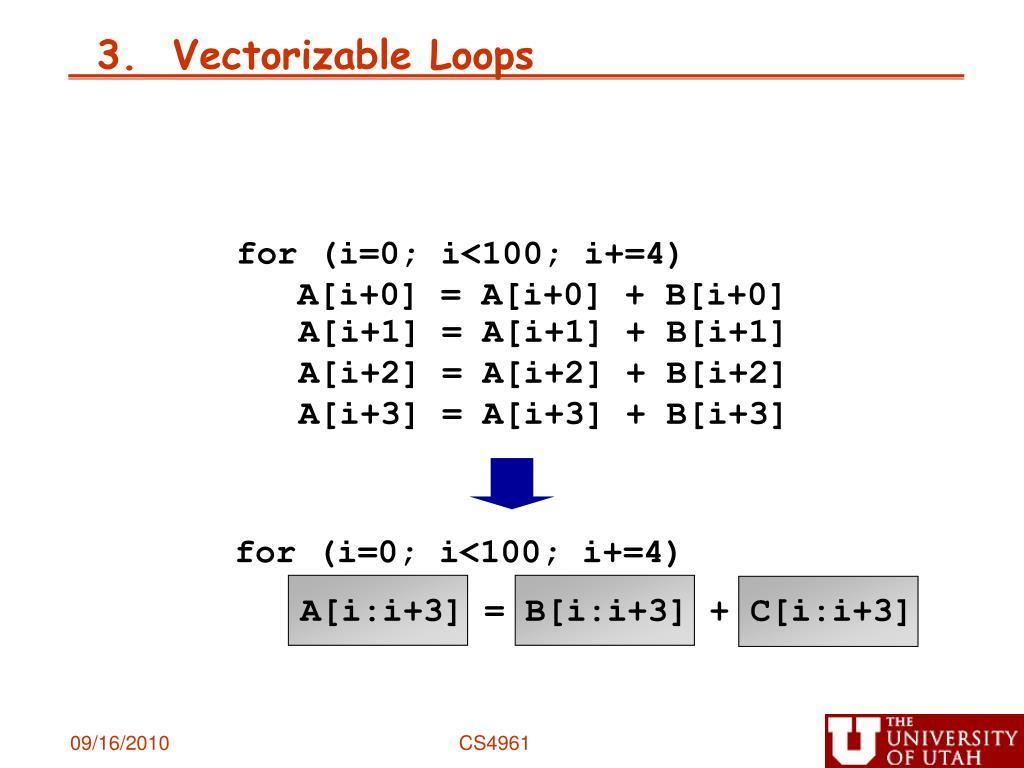 for (i=0; i<100; i+=4)