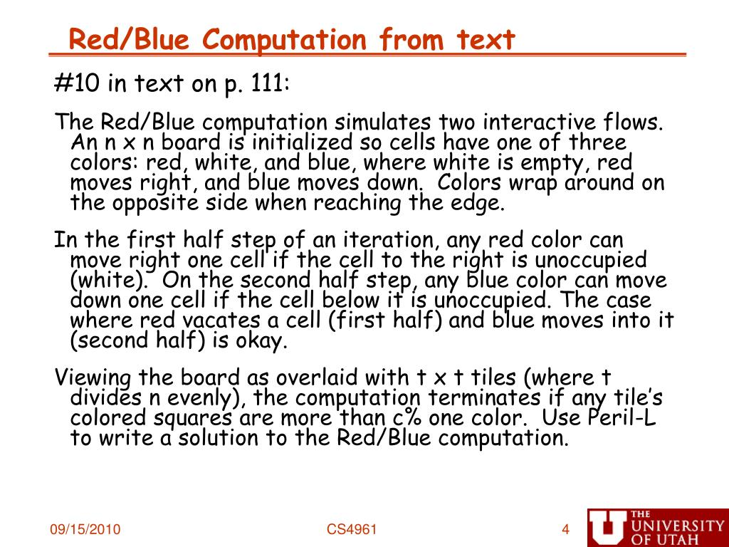 Red/Blue Computation from text