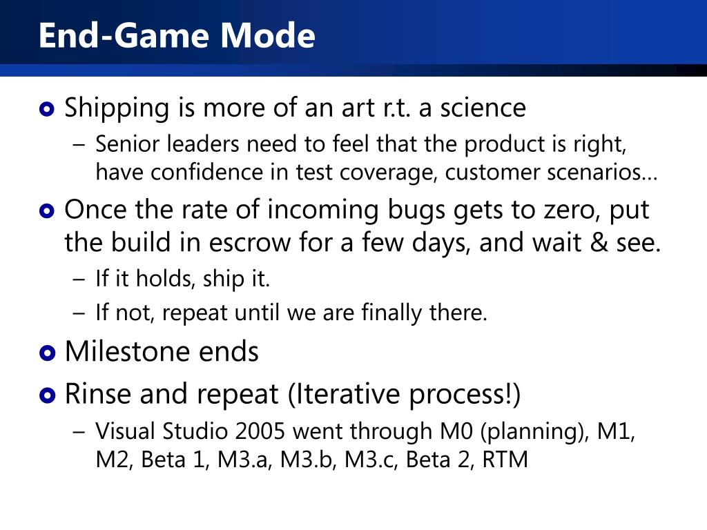 End-Game Mode